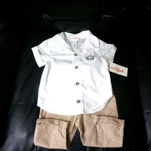Cat & Jack Boys Woven Top and Bottom Set WT3